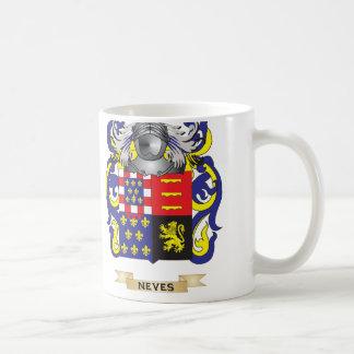 Escudo de armas de Neves (escudo de la familia) Tazas De Café