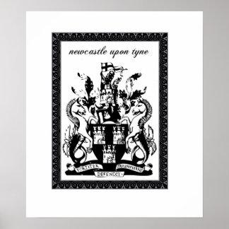 escudo de armas de Newcastle Impresiones