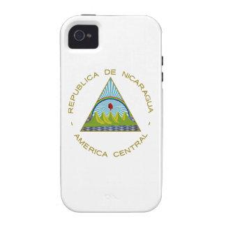 Escudo de armas de Nicaragua iPhone 4 Carcasas