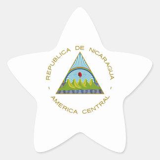 Escudo de armas de Nicaragua Colcomanias Forma De Estrellaes Personalizadas