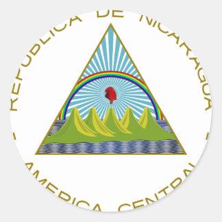 Escudo de armas de Nicaragua Pegatinas Redondas