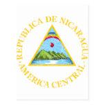 Escudo de armas de Nicaragua Tarjetas Postales