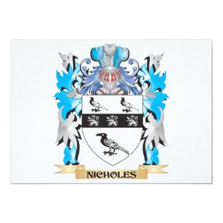 """Escudo de armas de Nicholes - escudo de la familia Invitación 5"""" X 7"""""""