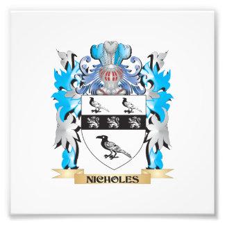 Escudo de armas de Nicholes - escudo de la familia Arte Fotográfico