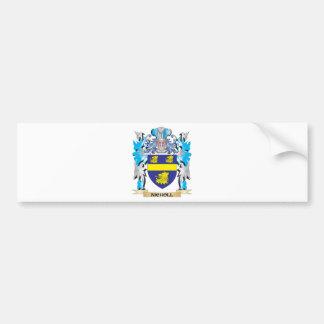 Escudo de armas de Nicholl - escudo de la familia Pegatina De Parachoque