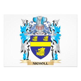Escudo de armas de Nicholl - escudo de la familia Comunicado