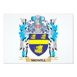 """Escudo de armas de Nicholl - escudo de la familia Invitación 5"""" X 7"""""""