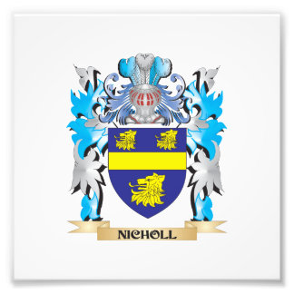 Escudo de armas de Nicholl - escudo de la familia Fotografias