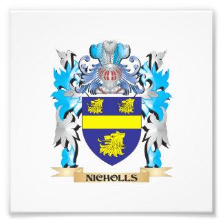Escudo de armas de Nicholls - escudo de la familia Fotografia