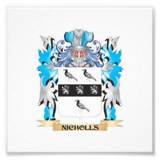 Escudo de armas de Nicholls - escudo de la familia Fotografias