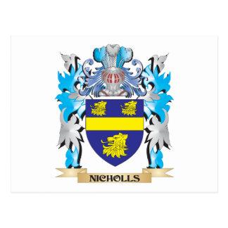Escudo de armas de Nicholls - escudo de la familia Postal