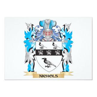 """Escudo de armas de Nichols - escudo de la familia Invitación 5"""" X 7"""""""