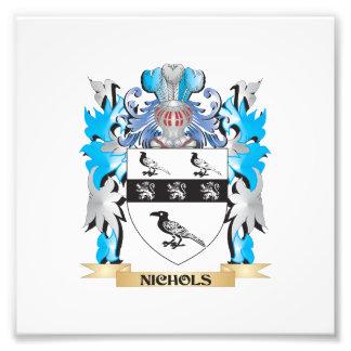 Escudo de armas de Nichols - escudo de la familia Fotografía