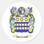 Escudo de armas de Nicholson (escudo de la Pegatina Redonda