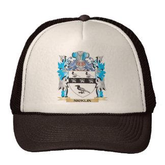 Escudo de armas de Nicklin - escudo de la familia Gorro