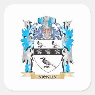 Escudo de armas de Nicklin - escudo de la familia Colcomanias Cuadradases