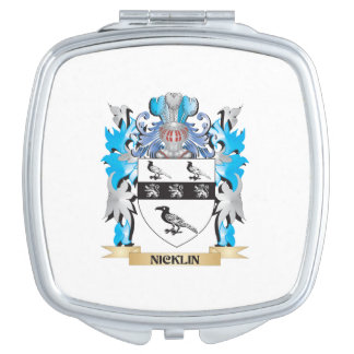 Escudo de armas de Nicklin - escudo de la familia Espejos Compactos