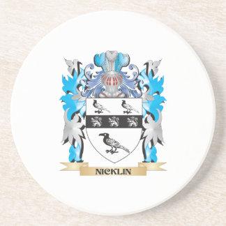 Escudo de armas de Nicklin - escudo de la familia Posavasos Para Bebidas