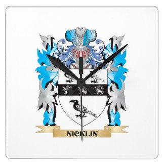 Escudo de armas de Nicklin - escudo de la familia Relojes