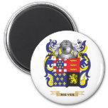 Escudo de armas de Nieves (escudo de la familia) Imán Redondo 5 Cm
