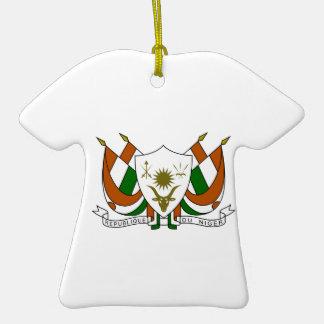 Escudo de armas de Niger Adorno De Cerámica En Forma De Playera