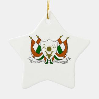 Escudo de armas de Niger Adorno De Cerámica En Forma De Estrella