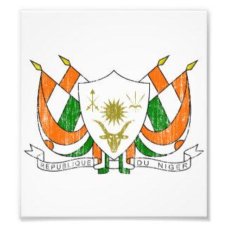 Escudo de armas de Niger Impresion Fotografica