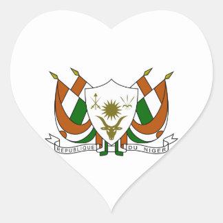 Escudo de armas de Niger Pegatina En Forma De Corazón