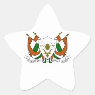 Escudo de armas de Niger Pegatina En Forma De Estrella