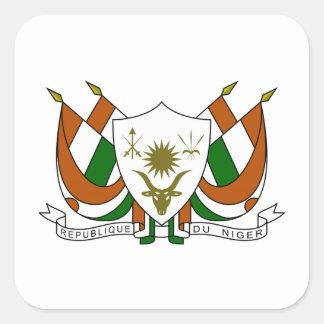 Escudo de armas de Niger Pegatina Cuadrada
