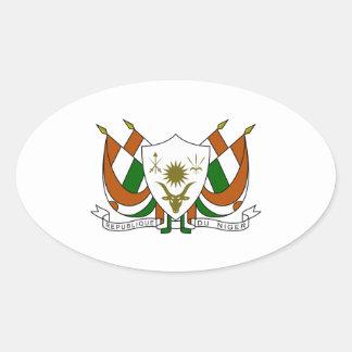 Escudo de armas de Niger Pegatina Ovalada
