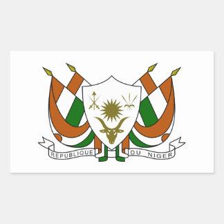 Escudo de armas de Niger Pegatina Rectangular