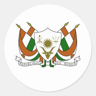 Escudo de armas de Niger Pegatina Redonda