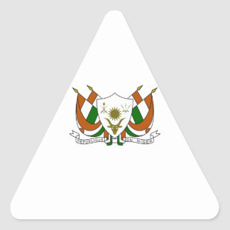 Escudo de armas de Niger Pegatina Triangular