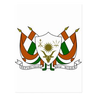 Escudo de armas de Niger Postales