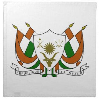 Escudo de armas de Niger Servilleta Imprimida