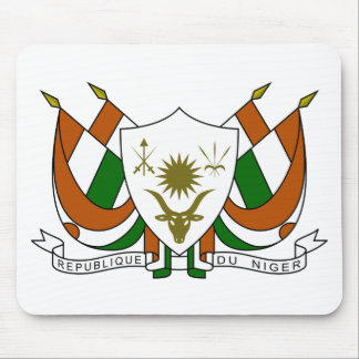 Escudo de armas de Niger Tapetes De Ratones