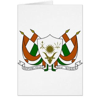 Escudo de armas de Niger Tarjeta De Felicitación