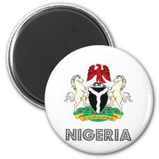 Escudo de armas de Nigeria Imanes Para Frigoríficos