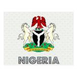 Escudo de armas de Nigeria Postales