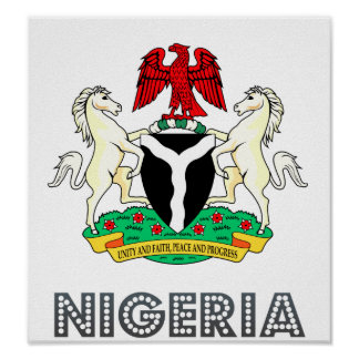 Escudo de armas de Nigeria Póster