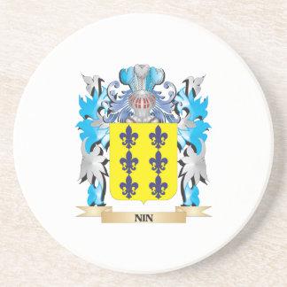 Escudo de armas de Nin - escudo de la familia Posavasos Diseño