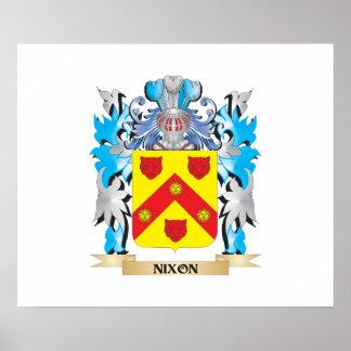 Escudo de armas de Nixon - escudo de la familia Póster