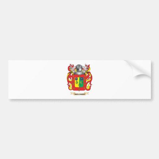 Escudo de armas de Noldner (escudo de la familia) Pegatina De Parachoque