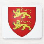 Escudo de armas de Normandía (Francia) Alfombrilla De Ratón