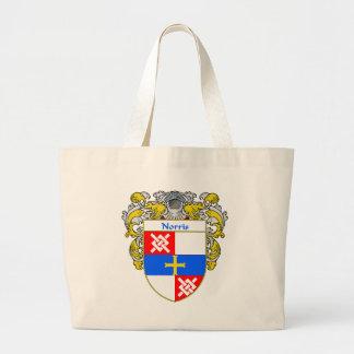 Escudo de armas de Norris (cubierto) Bolsa Tela Grande
