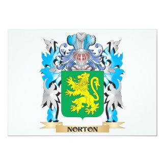 """Escudo de armas de Norton - escudo de la familia Invitación 5"""" X 7"""""""