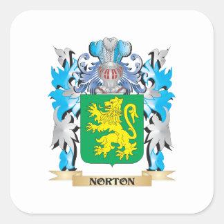 Escudo de armas de Norton - escudo de la familia Pegatina Cuadradas Personalizadas