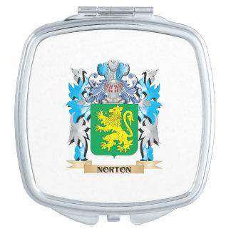 Escudo de armas de Norton - escudo de la familia Espejo Compacto