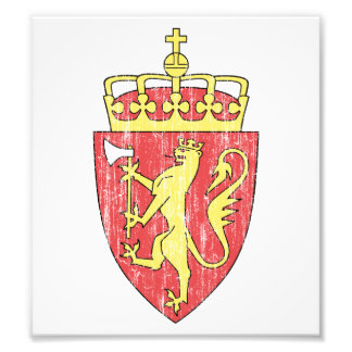 Escudo de armas de Noruega Arte Fotografico